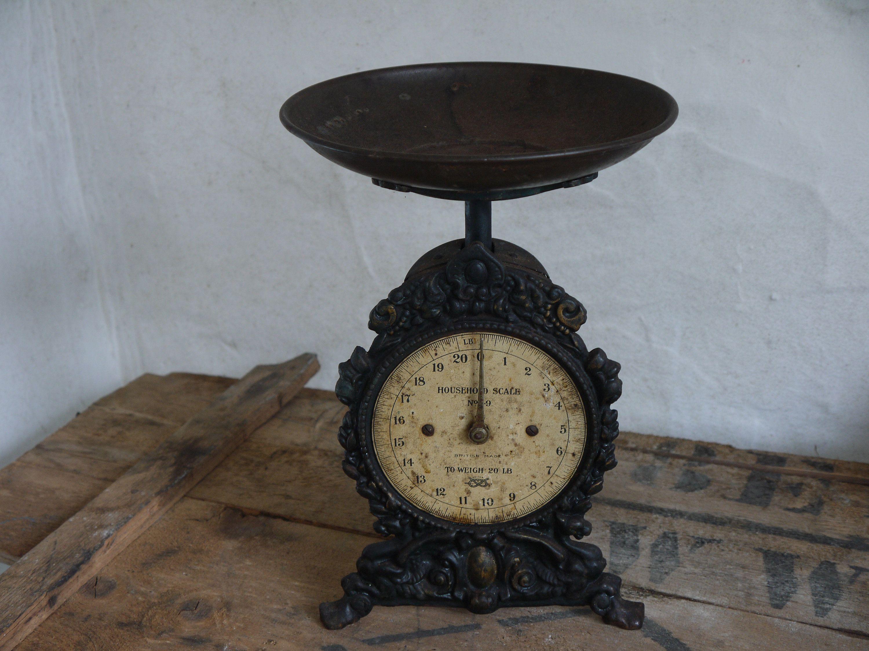 Antique Kitchen Scales Vintage Kitchen Scale Unusual Victorian