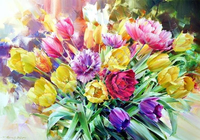 Самой Весны букет. Набор для творчества: картина раскраска ...