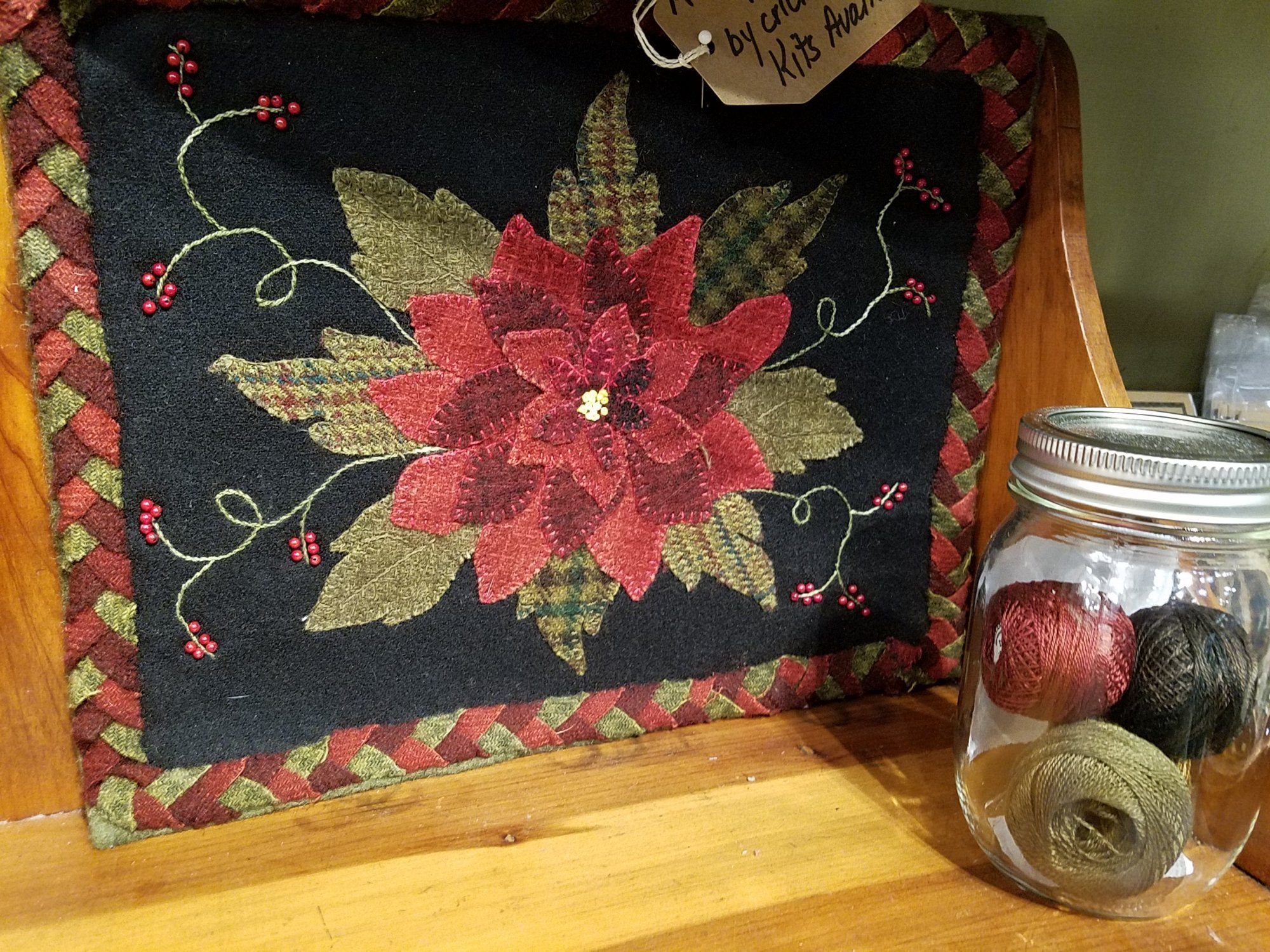 A Sign Of Christmas Wool Table Kit With Pattern 10 5 X 12