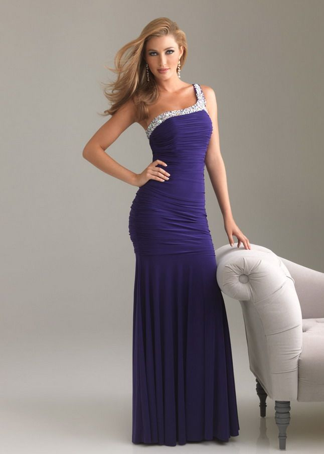 cute long prom dresses with straps | ... Prom Long Dresses ...