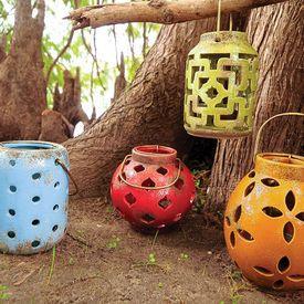 Pierced Ceramic Lanterns. Outdoor ...