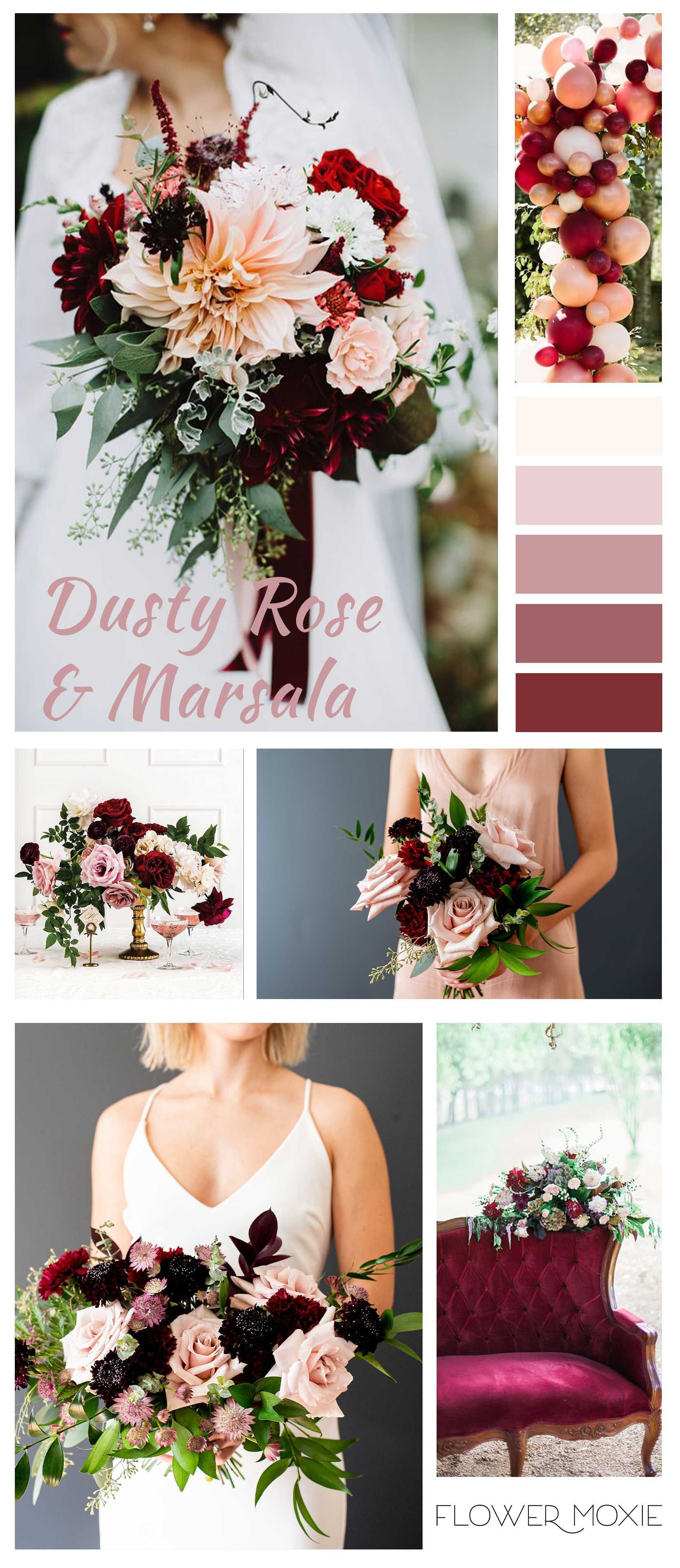 DIY Flower Packages Dusty Rose & Marsala Wedding Flower