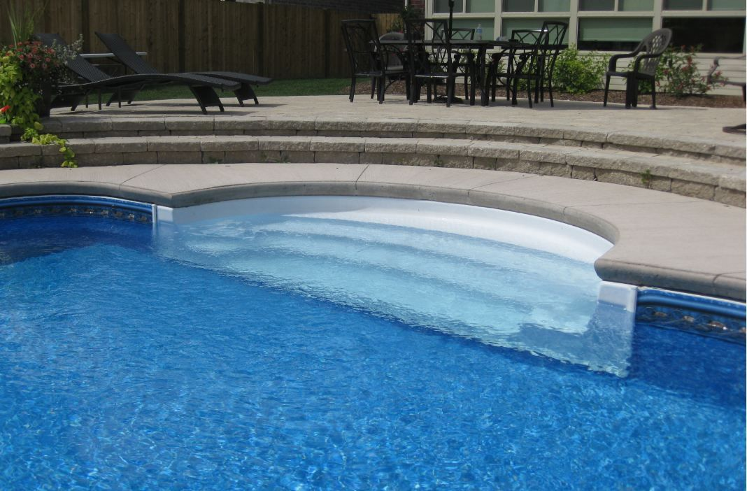 Inground pool steps for existing pool pool steps for In ground pool coping ideas