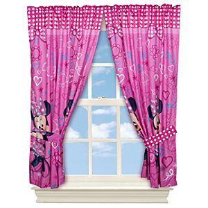 Perfect Disney Minnie Mouse Curtain Set | Disney StoreMinnie Mouse Curtain Set    Draw Back The Curtains