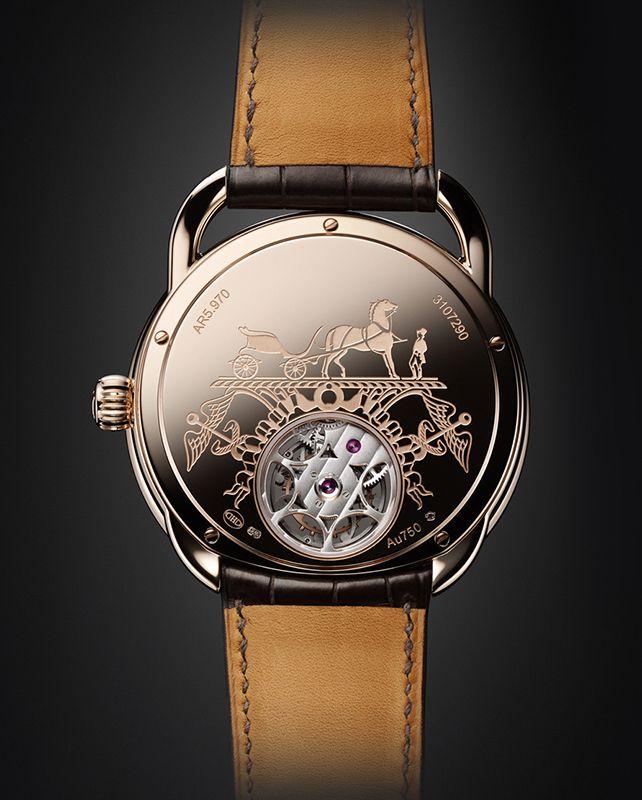 cedb76d5b31 Hermes Arceau Lift Tourbillon Watch Case Back. PS  COOL