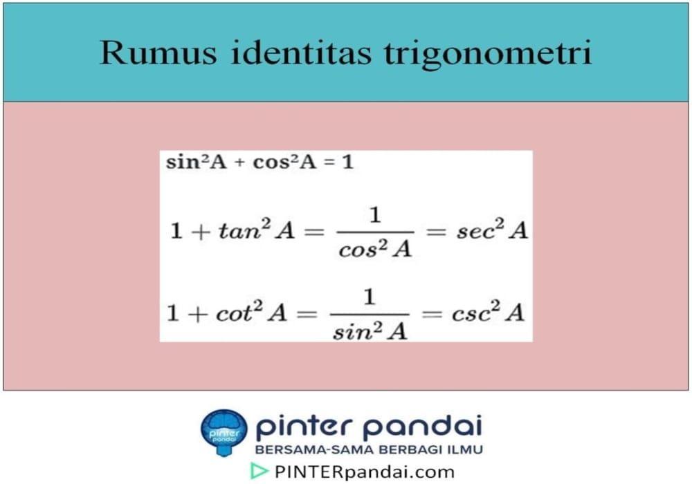 Soal Dan Jawaban Pembuktian Identitas Trigonometri
