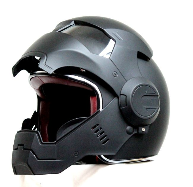 a494e815b07 Masei Matt Black Atomic-Man 610 Open Face Motorcycle Helmet Free Shipping  for Harley Davidson