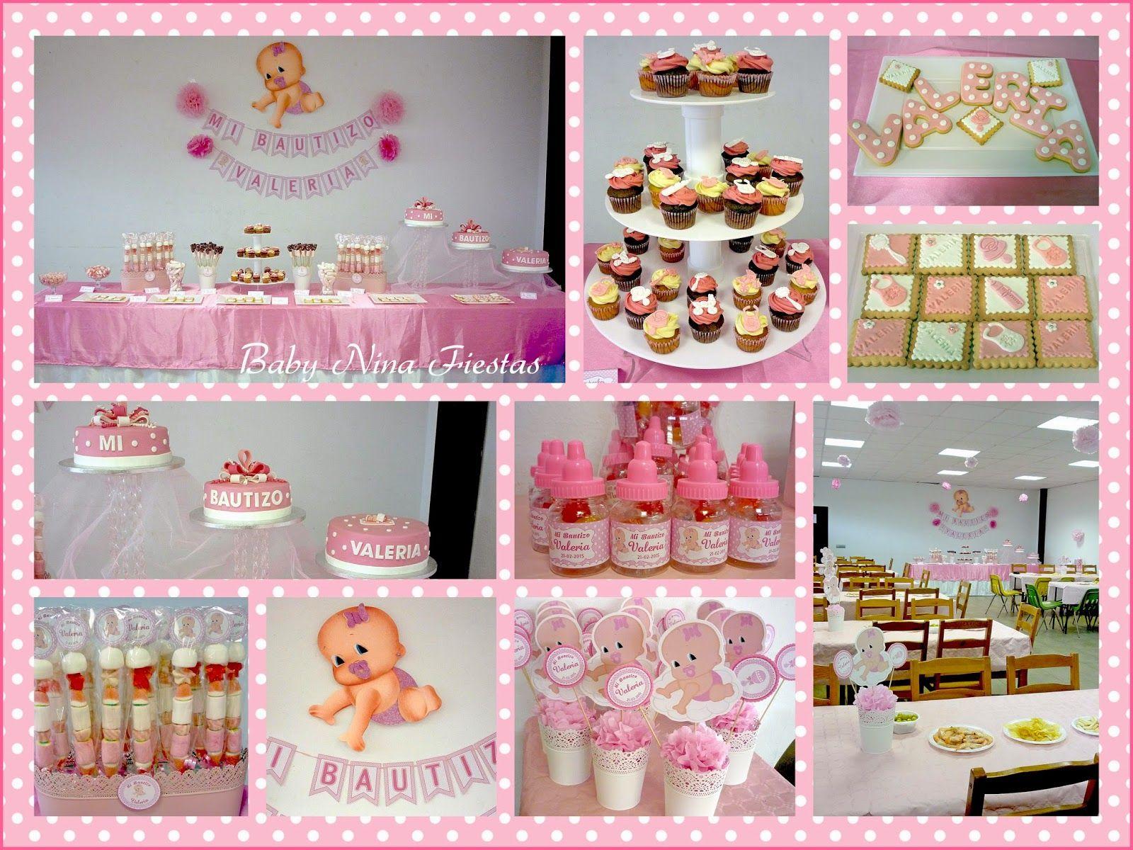 mesa dulce bautizo en rosa para valeria