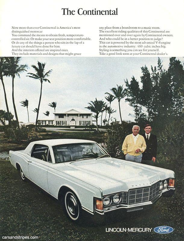 1969 Lincoln Continental The Continental Original Ad 60s