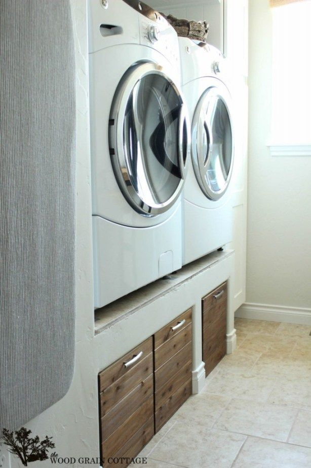 Great ideas 20 projects to get you organized lave - Hauteur evacuation lave linge ...