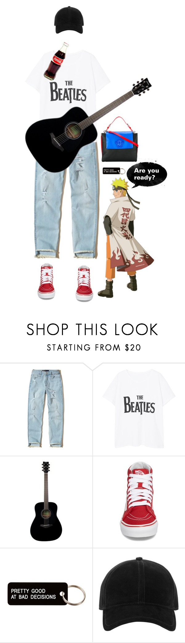 """""""I'm ready!"""" by www-som ❤ liked on Polyvore featuring Hollister Co., Violeta by Mango, Yamaha, Vans, Various Projects, rag & bone and Versace"""