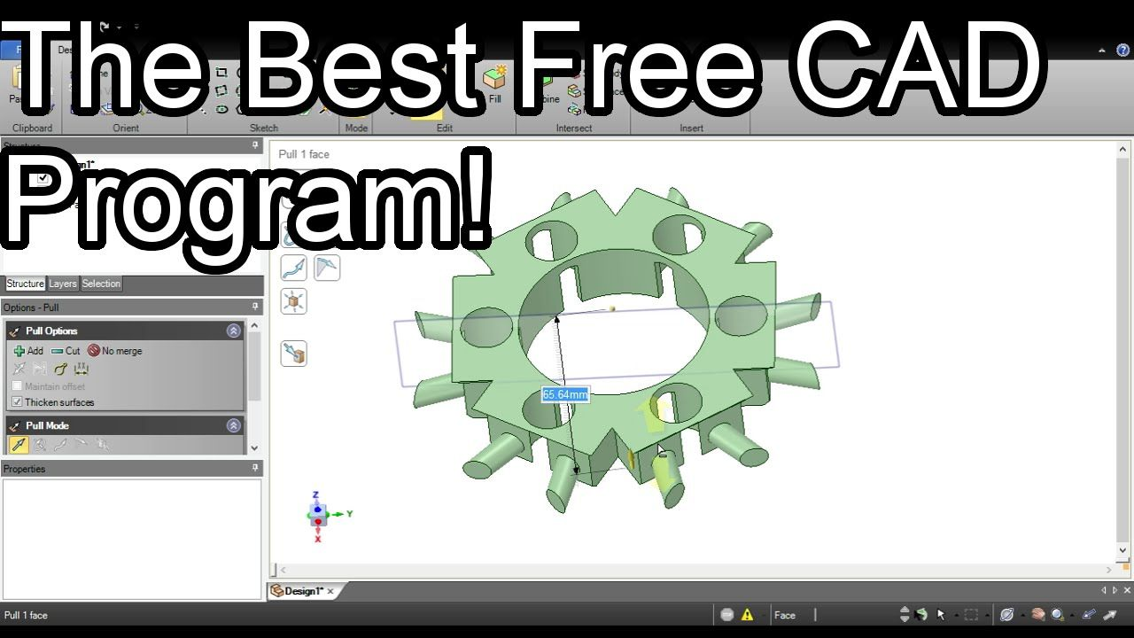 The Best Free CAD Program - DesignSpark Mechanical | 3D Printing