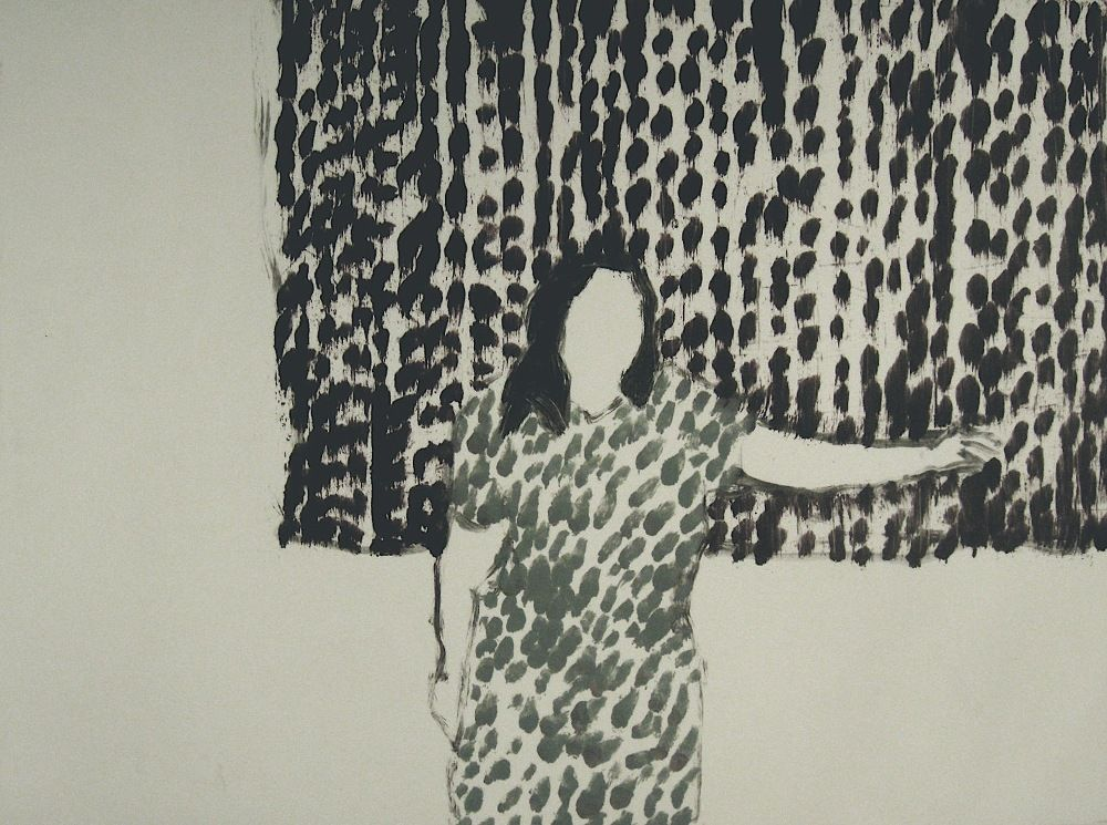 Woman and a Curtain248x180mm Betsy Dadd