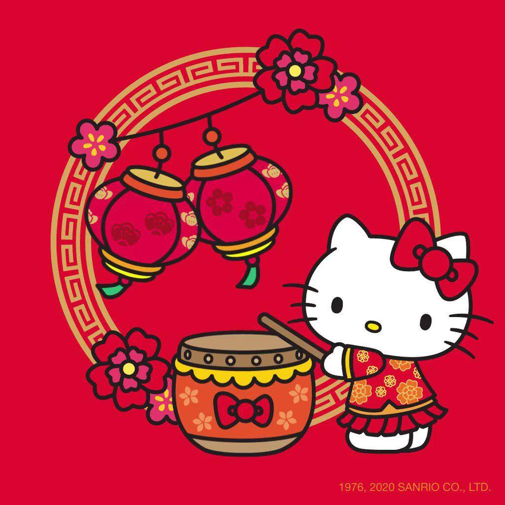 """Hello Kitty on Twitter """"Happy LunarNewYear, friends"""