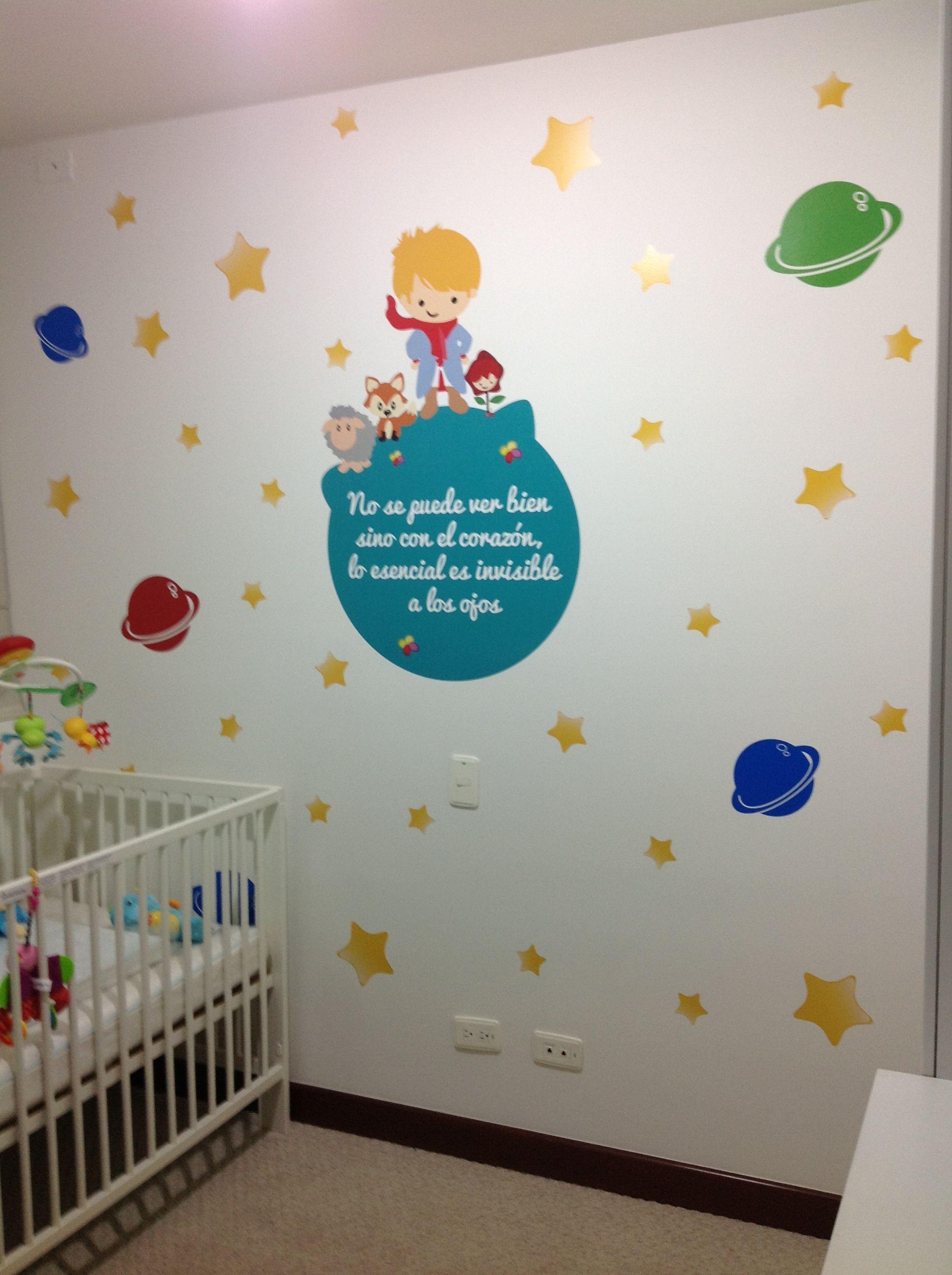 Decoraci n infantil principito vinilosdecorativos - Habitaciones infantiles decoracion paredes ...