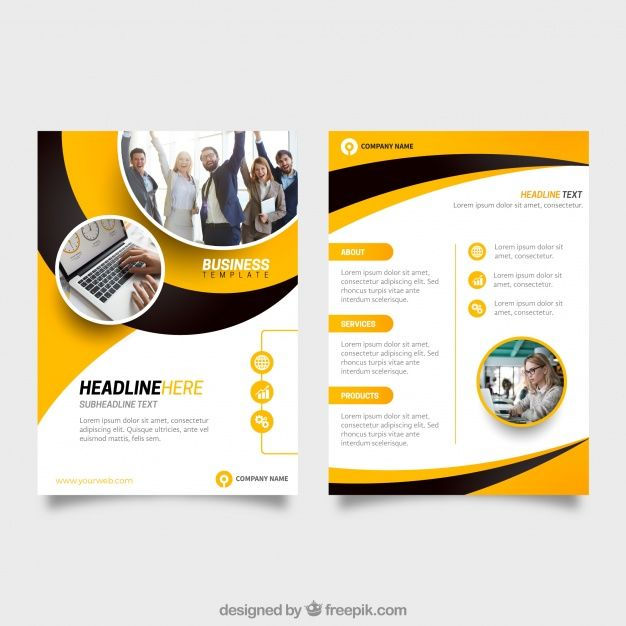 Yellow And Black Business Flyer Template Free Vector Ai Company