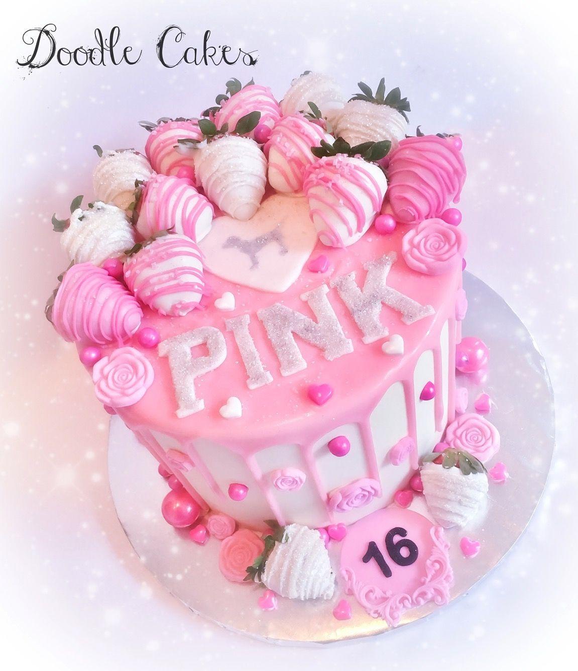 Victoria secret pink cake 14th birthday cakes doodle