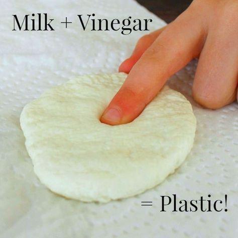 Turn Milk into Plastic! - How Wee Learn #scienceexperimentsforpreschoolers