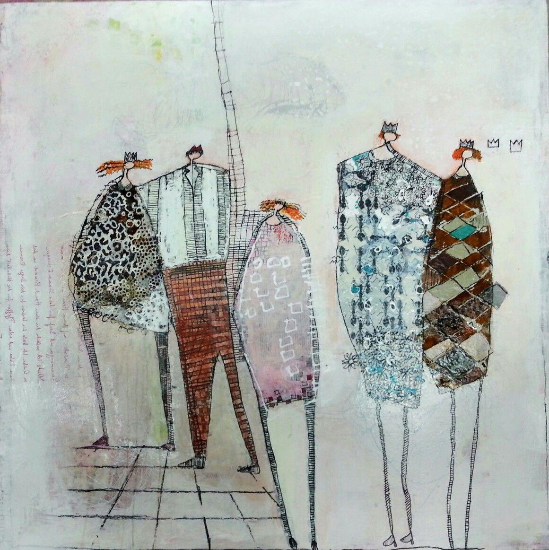 """Acryl auf Leinwand 80 x 80 cm """" Fünf Freunde """" von"""