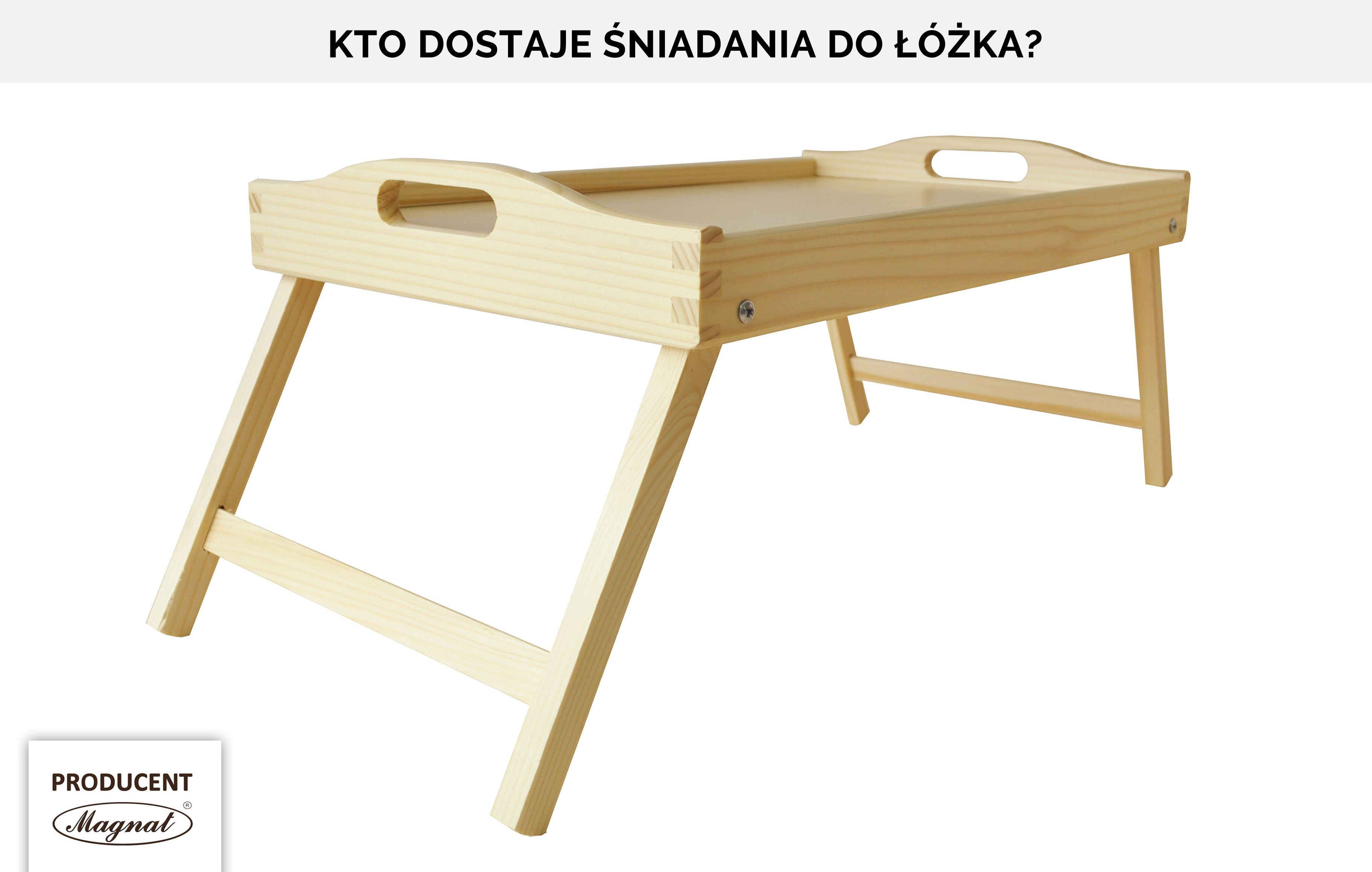 Stolik śniadaniowy Sosna Taca Do łóżka Pod Laptopa Dodatki