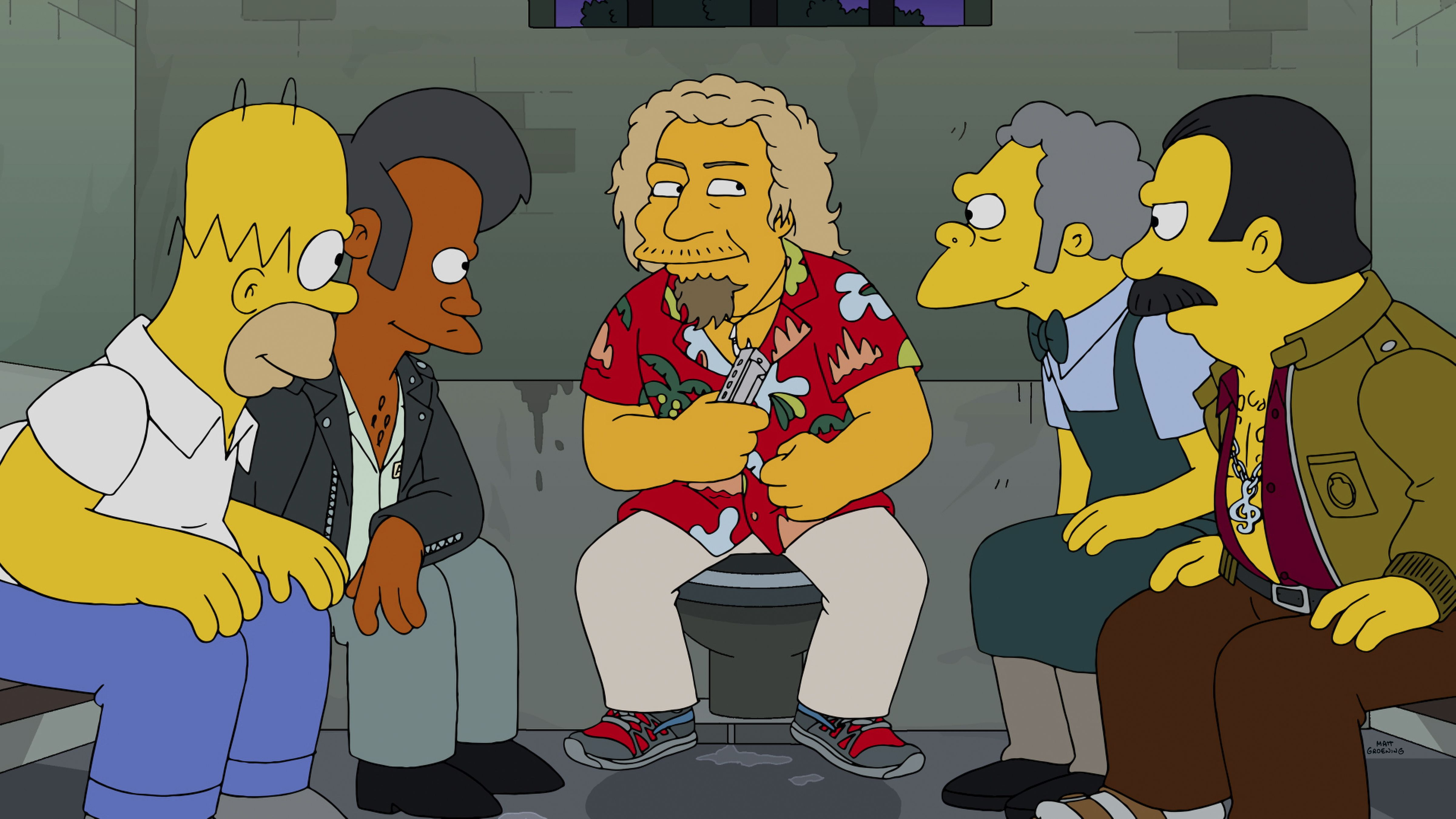 Sammy Hagar Guest Stars On The Simpsons Los Simpson Caricaturas