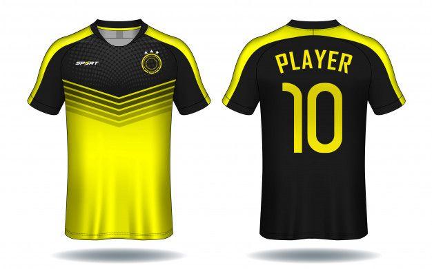 Soccer Jersey Template Sport T Shirt Des Premium Vector Freepik Vector Logo Design Logo Design Tem In 2020 Sports Tshirt Designs Soccer Jersey Shirt Designs
