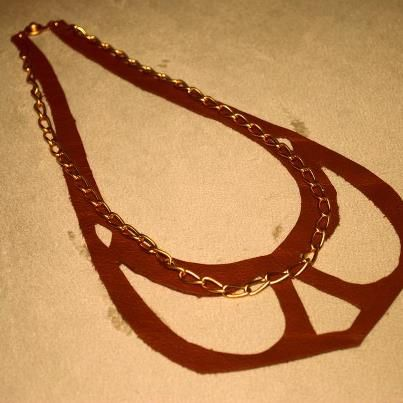 my design :)  leather necklace