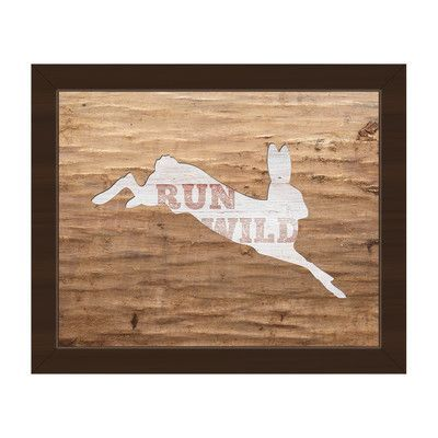 Click Wall Art Run Wild Framed Graphic Art on Canvas