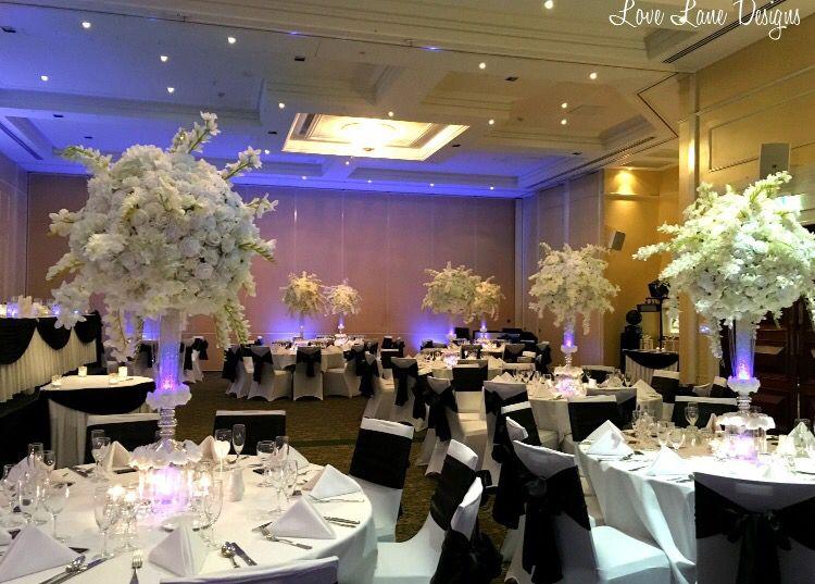 Black White And Blue Wedding Reception At Rydges Townsville Qld Blue Wedding Receptions Wedding Wedding Reception