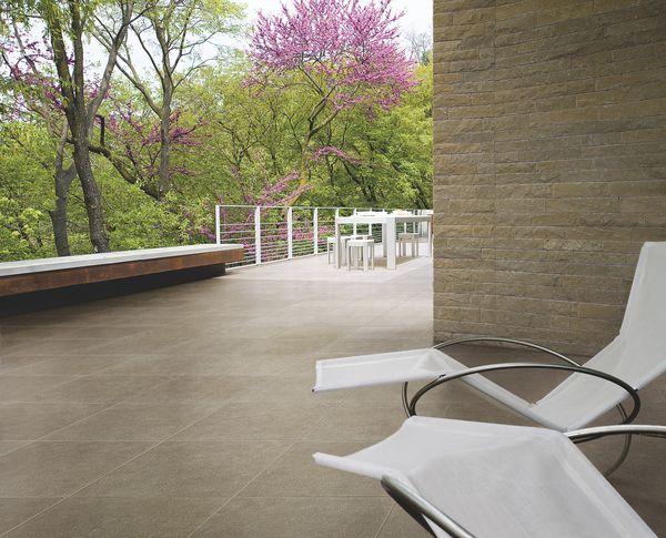 Carrelage Indian stone ASCOT TANGUY Matériaux Terrasse   Jardin - photo terrasse carrelage gris