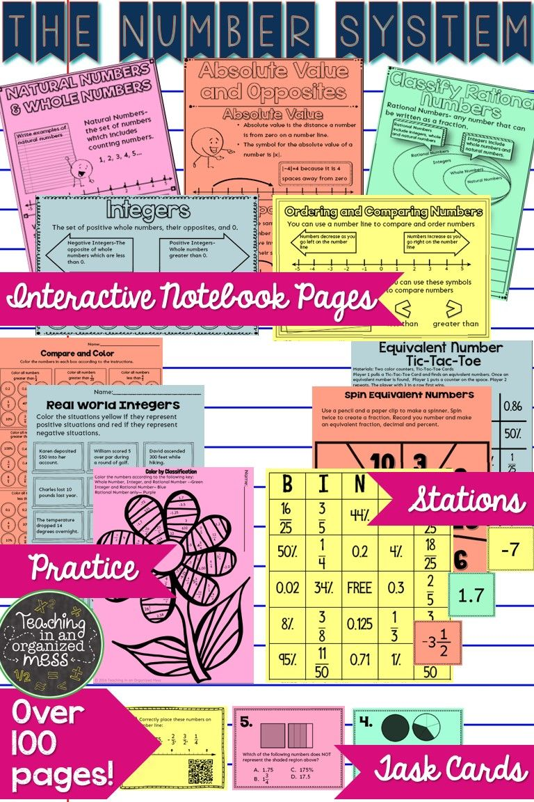 Fresh Ideas - Rational Numbers and Number System Growing BUNDLE 6th