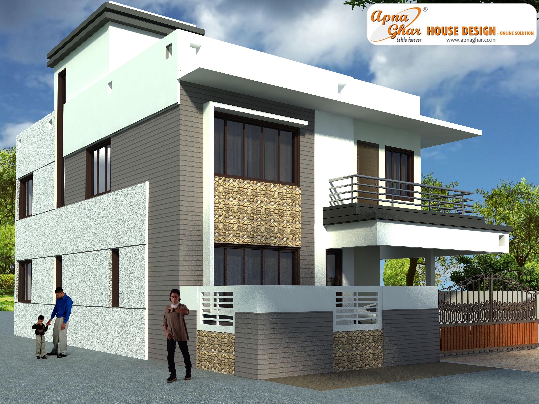 4 bedrooms duplex house design in 135m2 9m x 15m ground floor