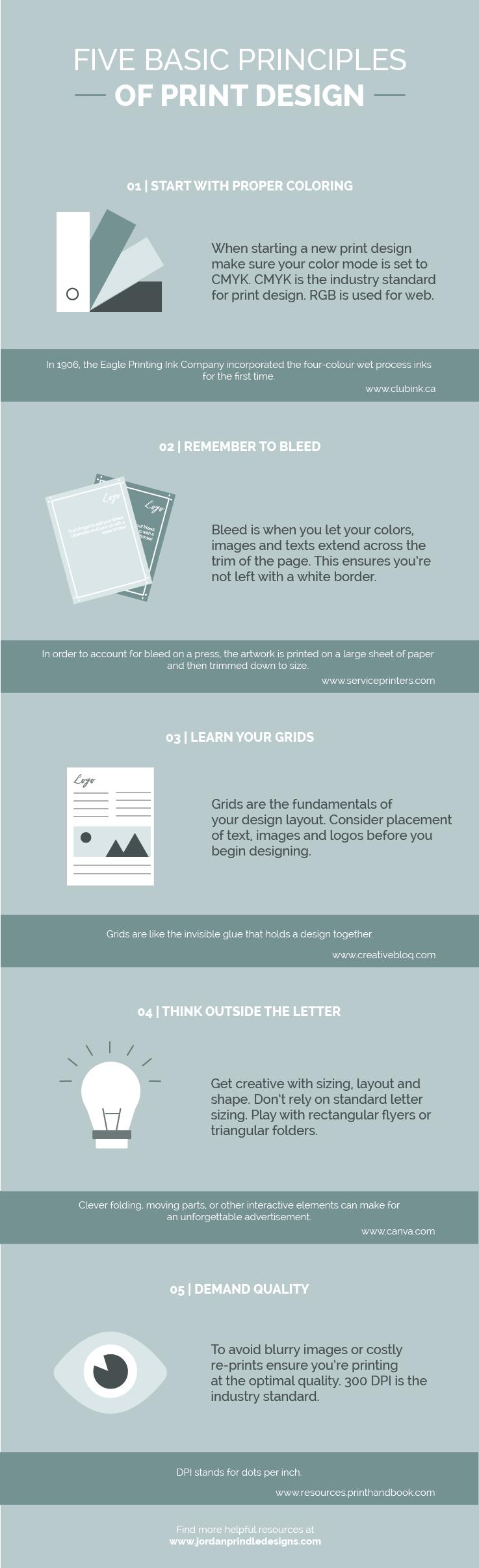 5 Basic Principles Of Print Design Jordan Prindle Designs Brand And Squarespace Designer For Entrepreneurs Creative Branding Branding Design Print Design
