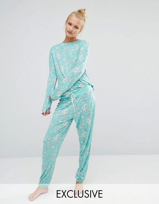 Chelsea Peers | Chelsea Peers Garden Flora Long Pyjama Set