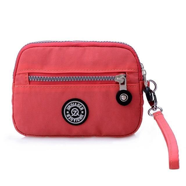 Fashion Women s Purses Casual Nylon Zipper Female Carteira Ladies Wallet  Female handbag Wristlet Money Bag Clutches Coin Pocket e0c83c24b9