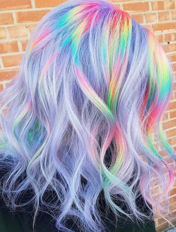 25 Magical Rainbow Highlights And Hair Colors For 2018 Hair