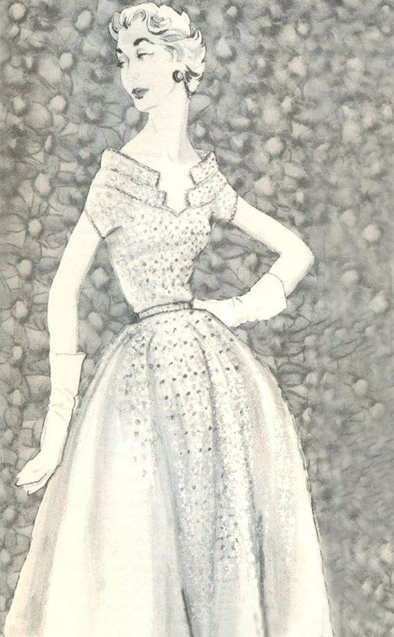 CROCHET PATTERN Schiaparelli's Silk Organdy Dress Instant ...