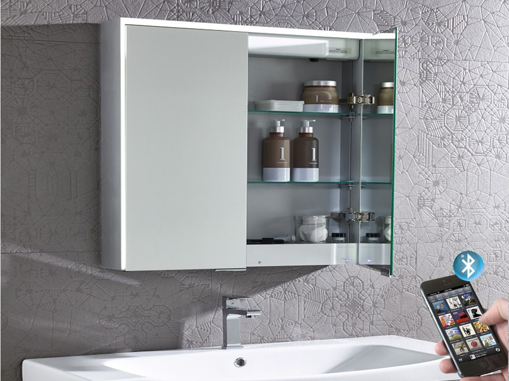 Compose Illuminated Bluetooth Bathroom Mirror Cabinet