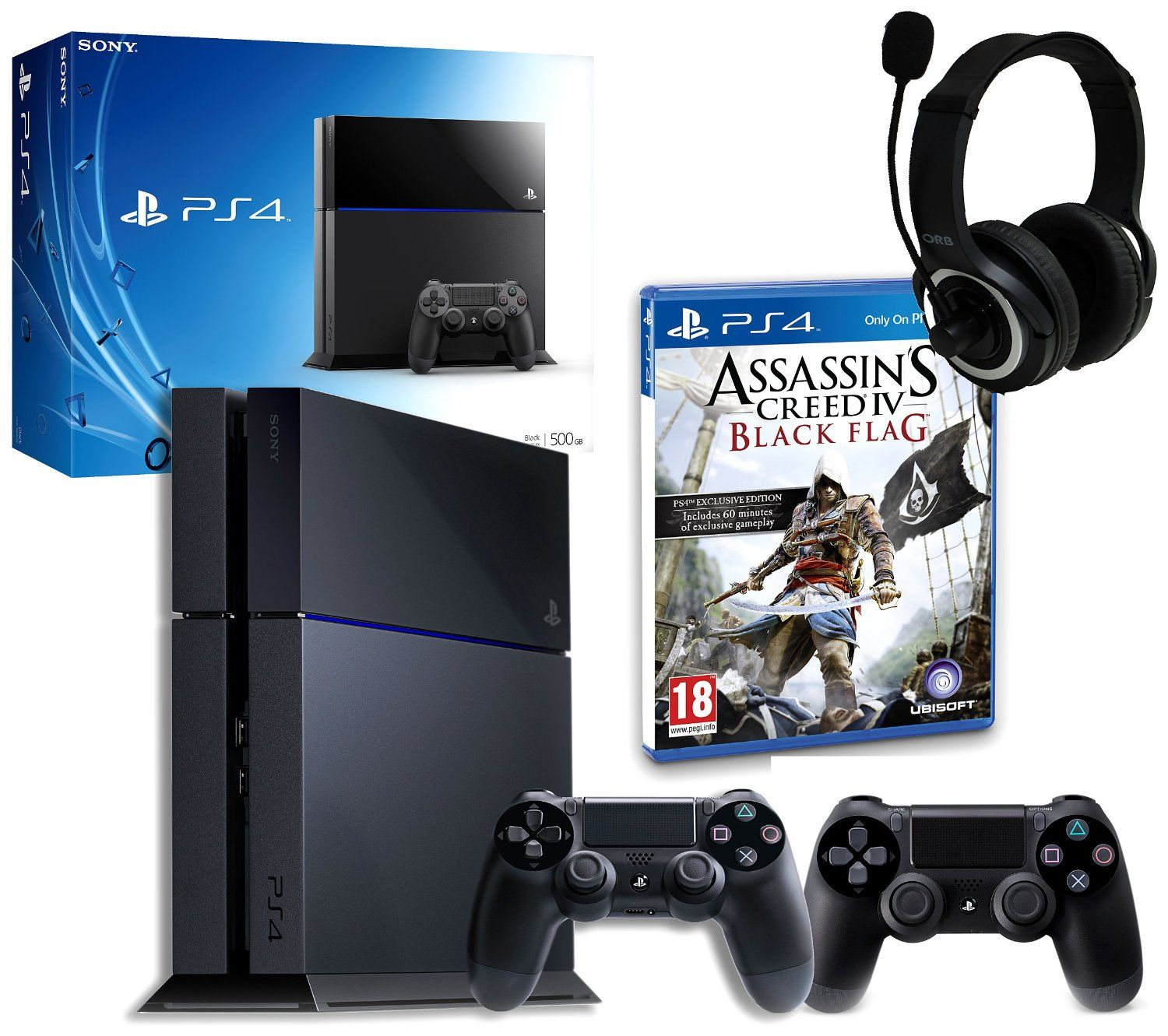 Sony Playstation 4 With Assassins Creed Iv Gp3 Headset