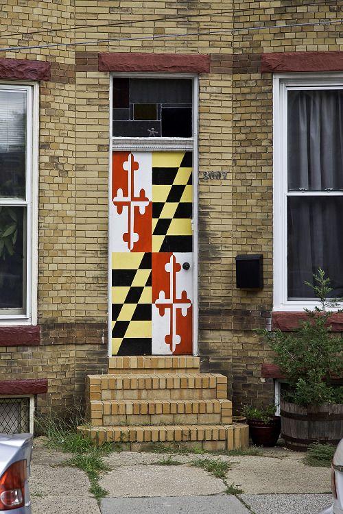 Maryland flag door Chestnut St. H&den Baltimore Md & Maryland flag door Chestnut St. Hampden Baltimore Md   DOORS ...