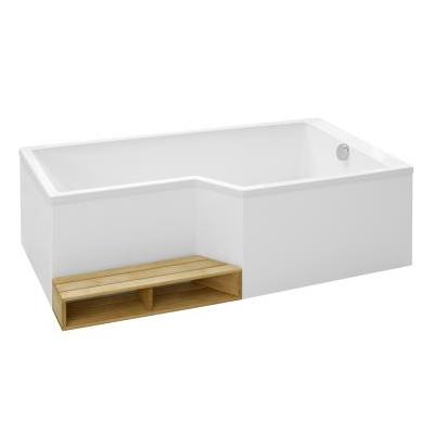 Baignoire Bain Douche Baignoire Bain Douche Neo 180 X 9070 Acrylique Version Droite Blanc With Images Deco Bathroom Habitats