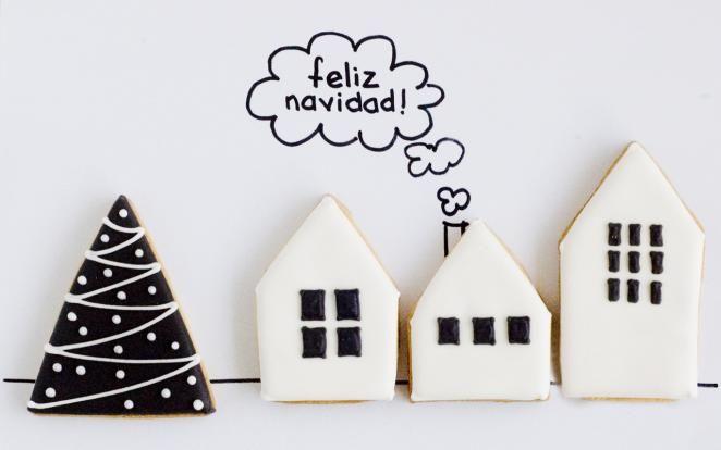 Pino y casas Black | Galletas Navidad | Pino y casas Black from Florentine Bake Shop
