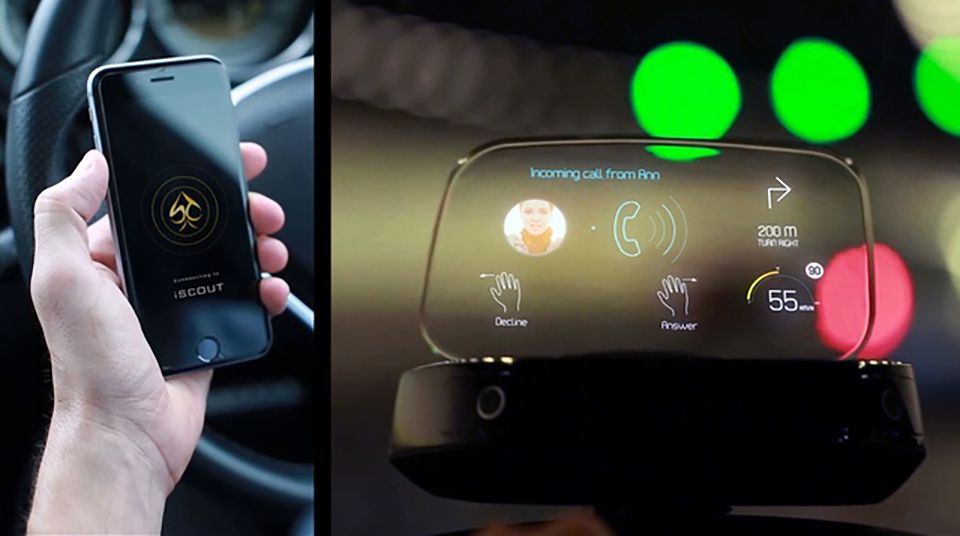 iScout HUD helps drivers with directions and blind spots
