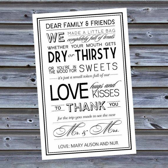 welcome notes printed - Google Search Lisa and Tom Pinterest - best of thank you letter format wedding