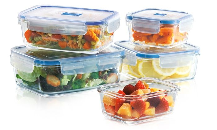Luminarc PureBox Glass Food Storage Set 10 Piece Luminarc PureBox