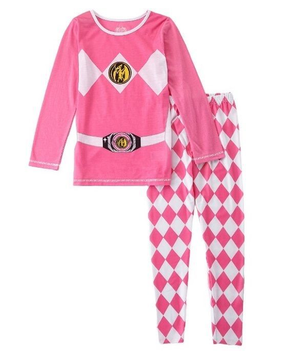 Details about Power Rangers Pink Pajamas Girls size 10 Long Sleeve ...