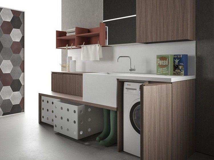 dunkle schr nke in kombination mit wei em sp lbecken f r den hauswirtschaftsraum hwr in 2018. Black Bedroom Furniture Sets. Home Design Ideas