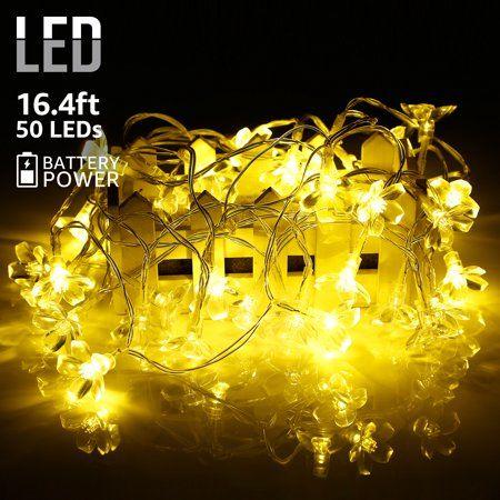 TORCHSTAR 164ft String Lights, Battery Powered Garden Christmas
