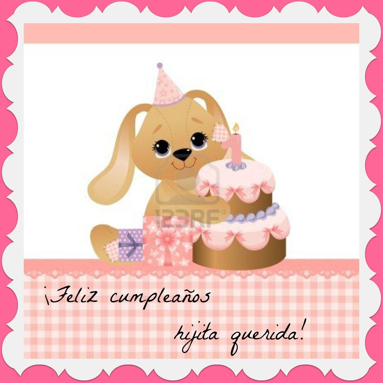 Tarjetas de Cumpleaños para hijas   ... -linda-plantilla-de-tarjeta ...