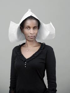 Mix-culture: Ayaan Hirsi Ali with Dutch hat - by victor bergen-henegouwen (2006)